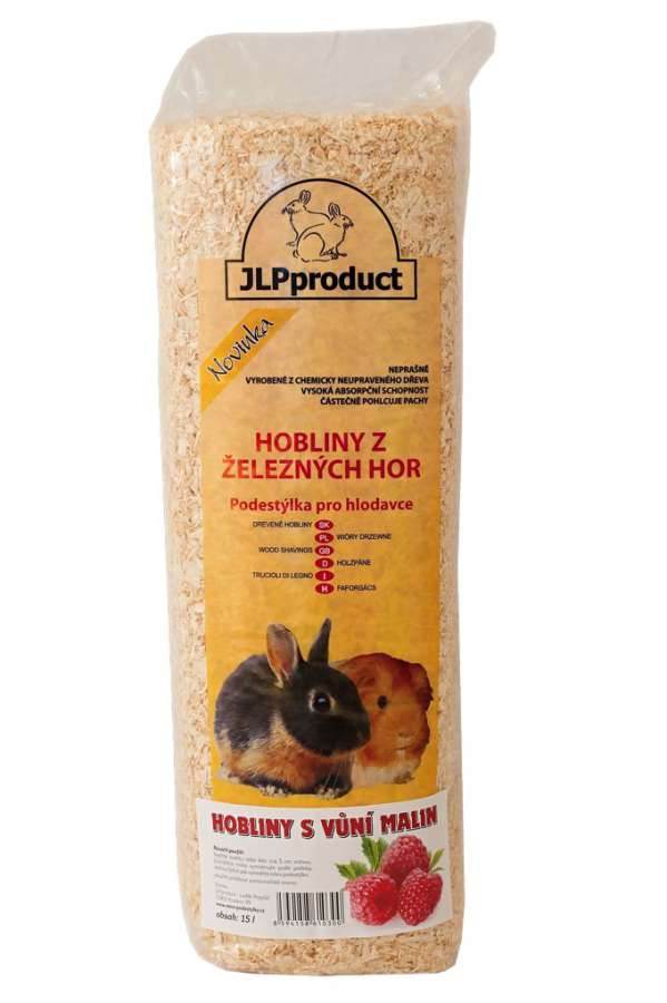 Hoblinová podestýlka 15l s malinou JLPproduct