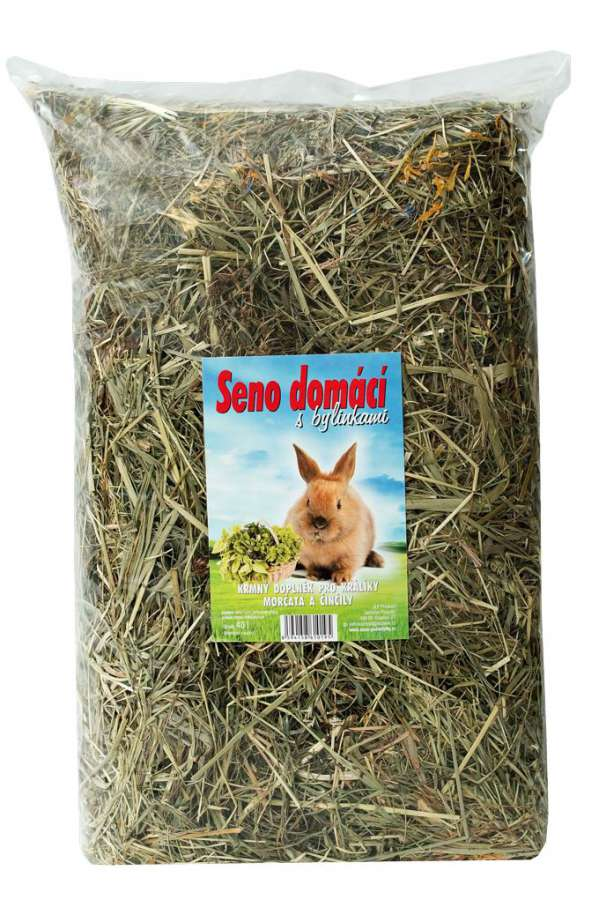 Seno domácí s bylinkami 40l speciál JLPproduct